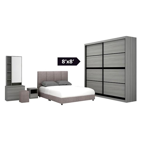 Bedroom Set with wardrobe 8' x 8'