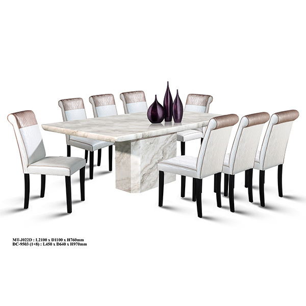 1+8 Classy Marble Dining Set