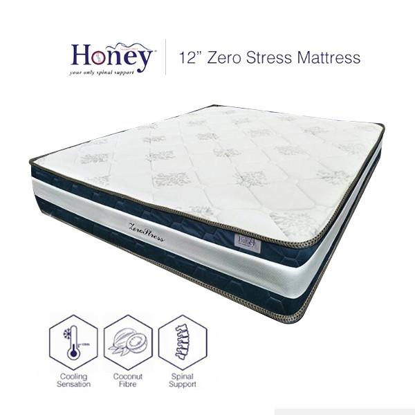 Honey 12inch Zero Stress Mattress - Queen