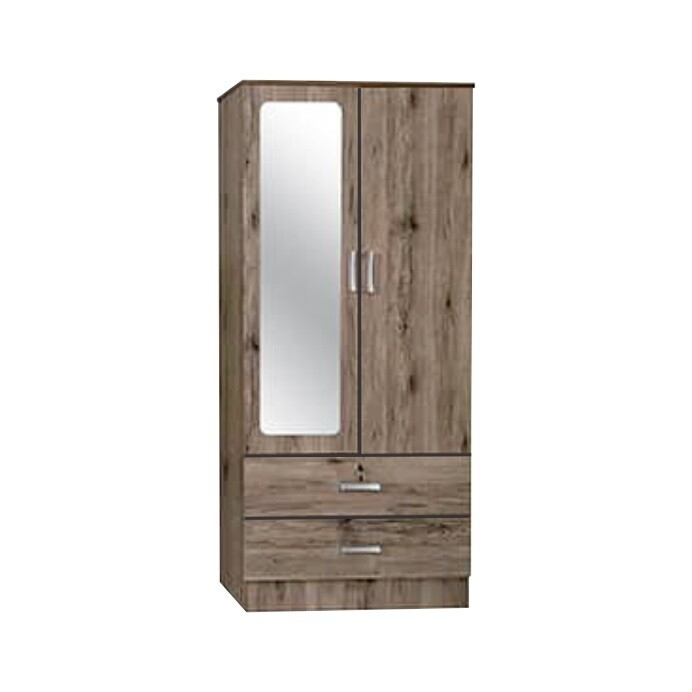 2 Doors Wardrobe with Mirror