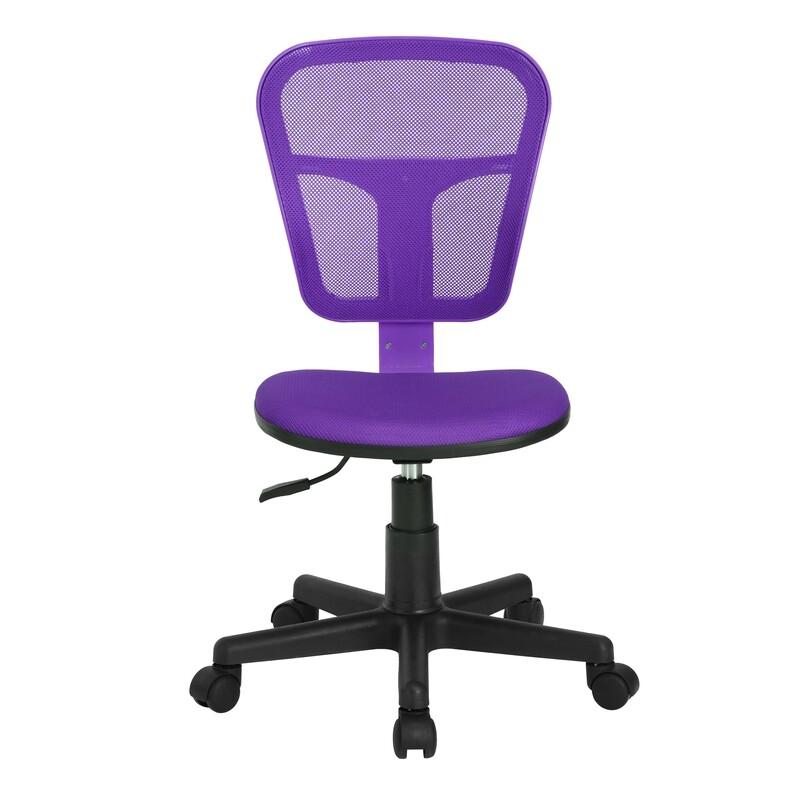 Adjustable Office Chair w/o Armrest (Flying Purple)