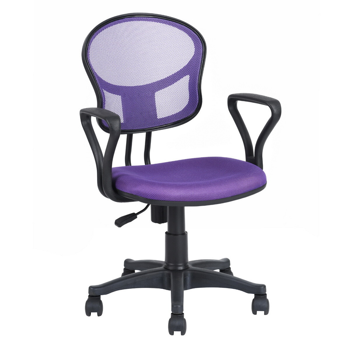Adjustable Office Chair With Armrest (Fiona Purple)