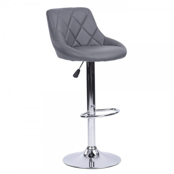 PU Height Adjustable Bar Stool (Urgot Grey)