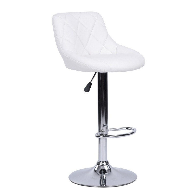 PU Height Adjustable Bar Stool (Urgot White)