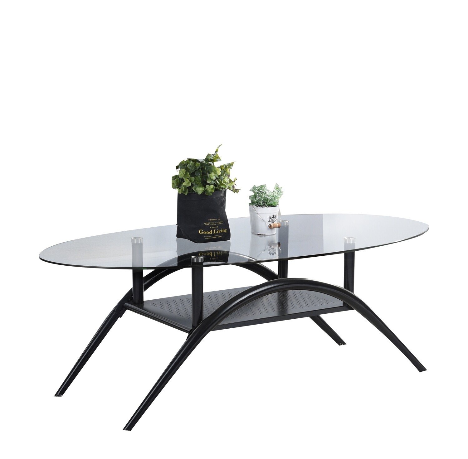 Glass Top Coffee Table (Pucci Oval)
