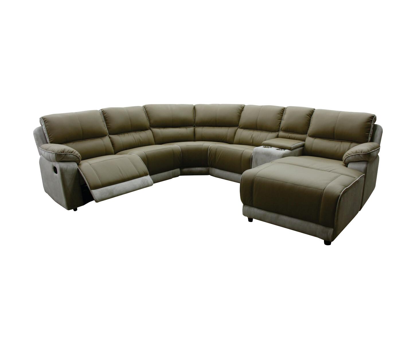 L-shape sofa with recliner (Mocha)