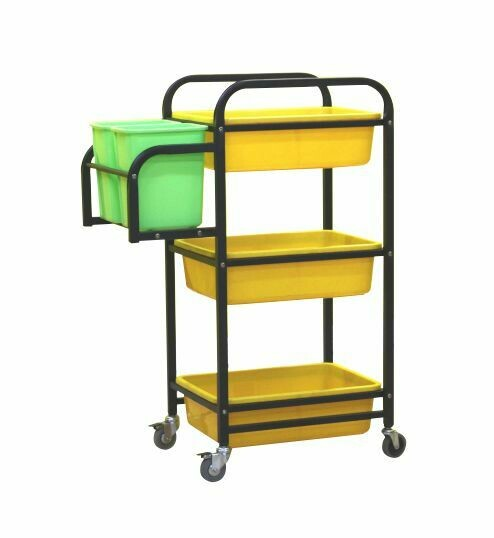 Rack with rectangle basket Trolley