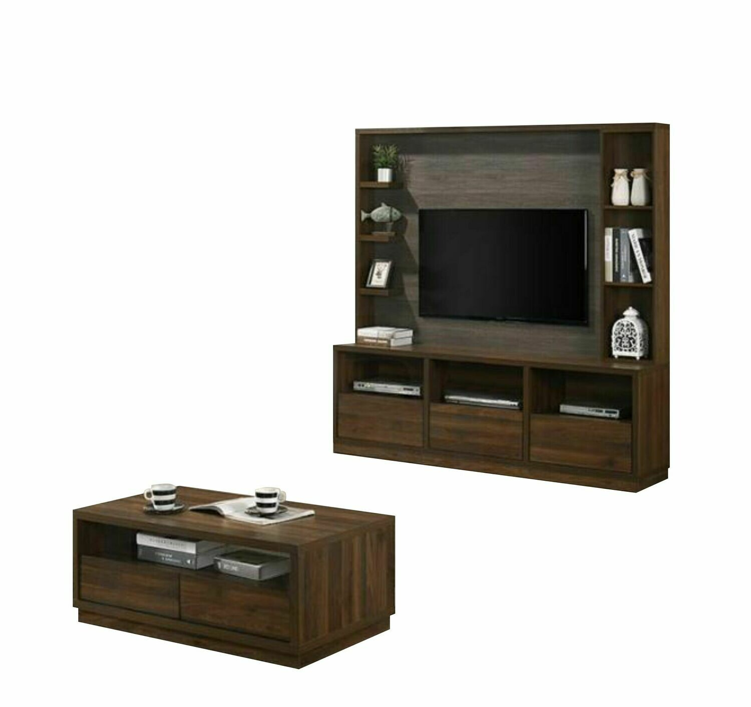 [Combo Packages] 6' High TV Cabinet + Coffee table