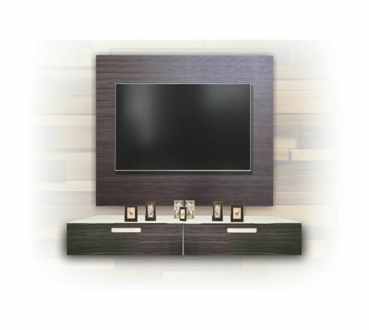 [2 in 1 Combo] 4' Wall TV Cabinet + 2 Drawers Tv Cabinet