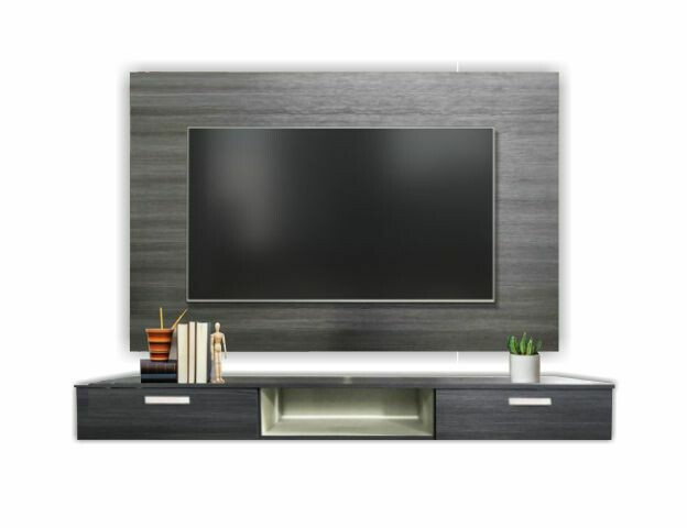 [2 in 1 Combo] 6' Wall TV Cabinet + 2 Drawers Tv Cabinet