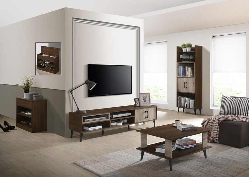 [Combo] 6ft Tv Cabinet + Coffee Table + Display Cabinet + Shoes Cabinet