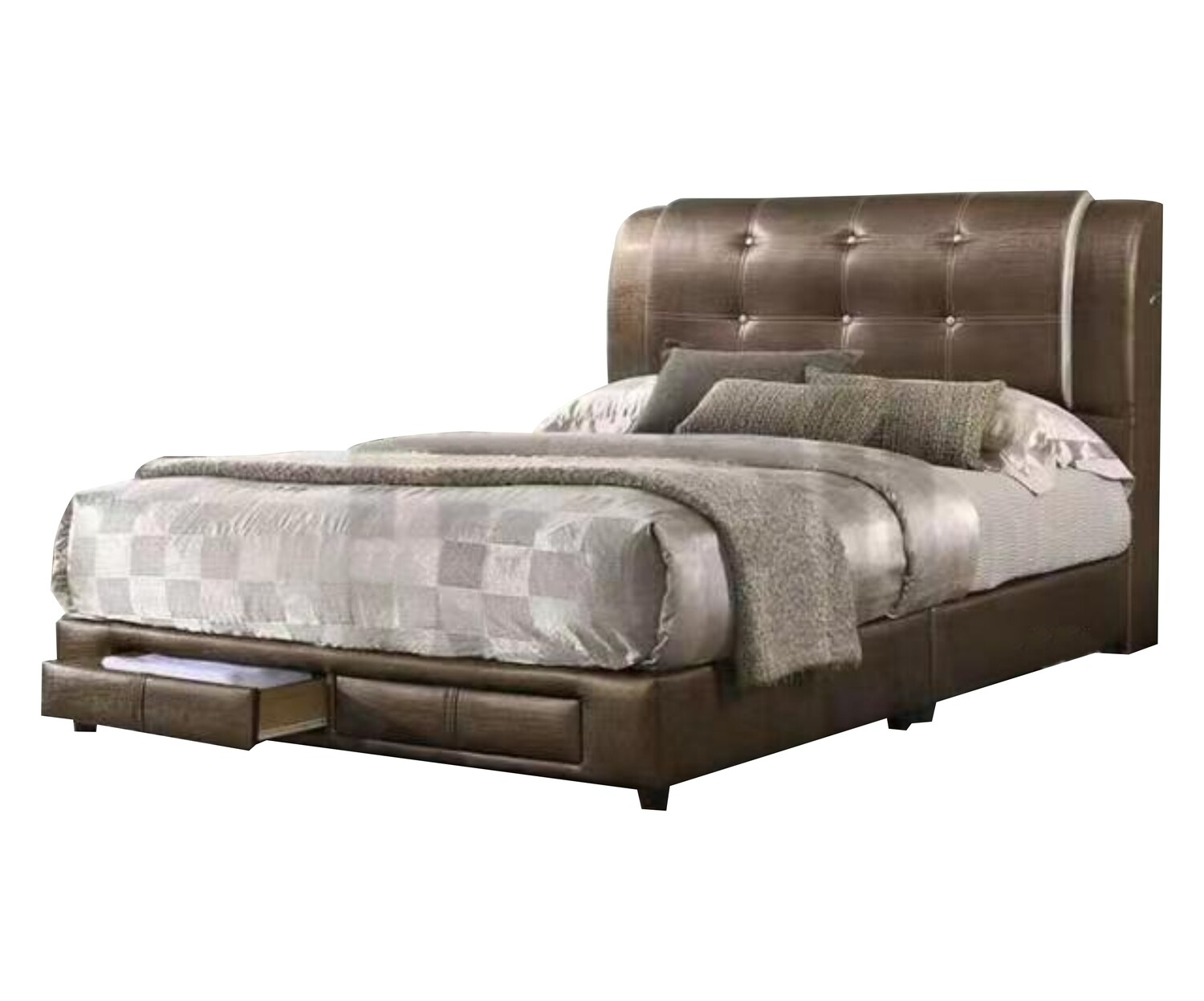 Divan Bed with 2 Drawers - Queen Size
