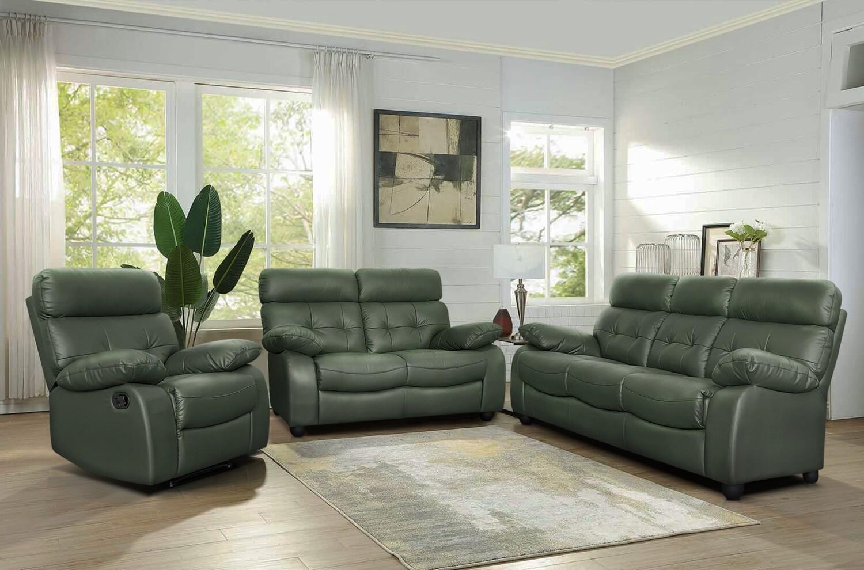 Half Leather Sofa Set