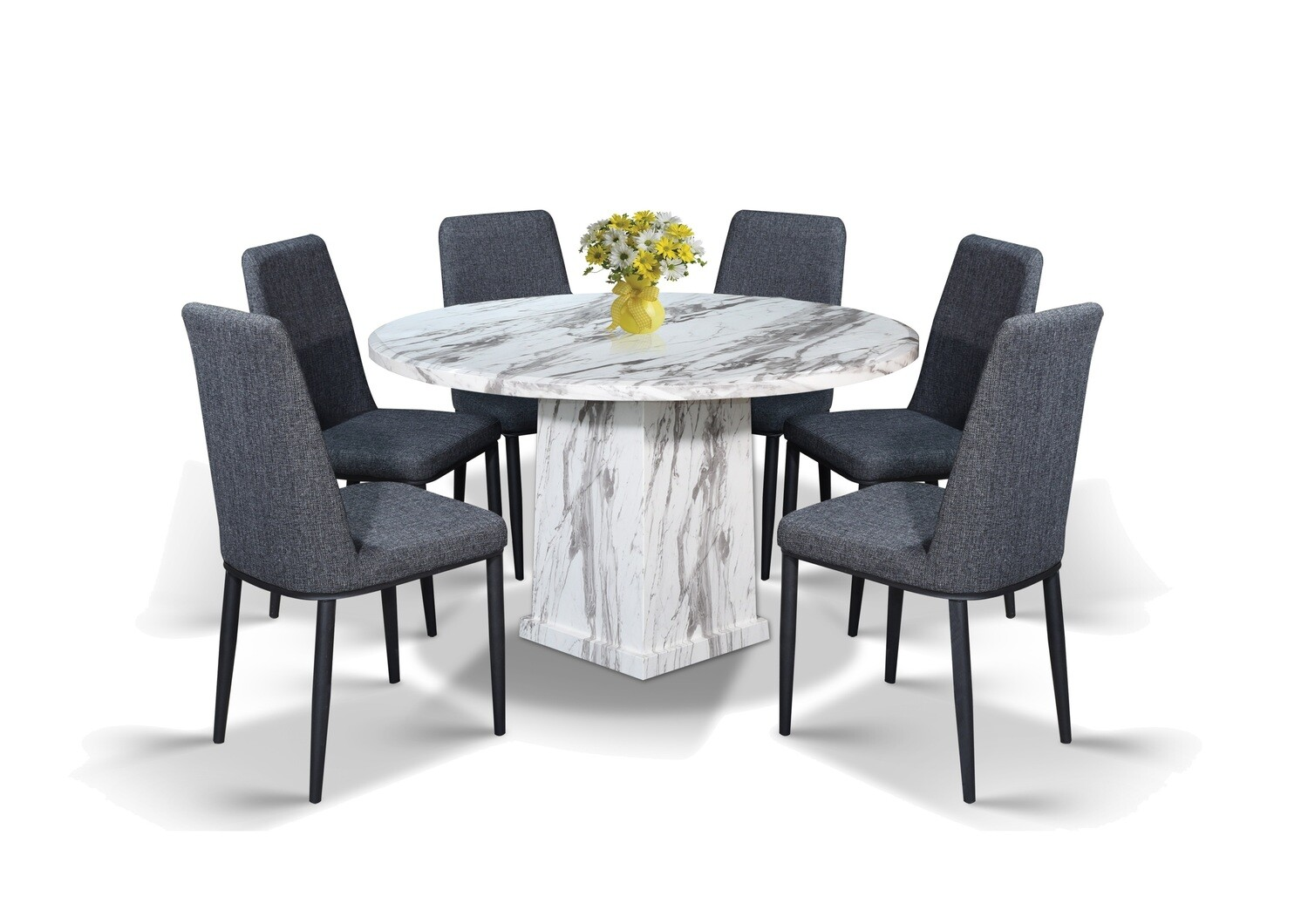 Classy Marble Dining Set 1+6