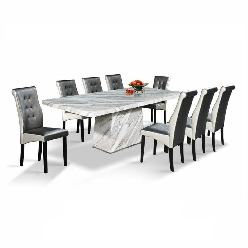 Classy Marble Dining Set 1+8