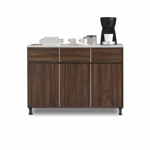 3 Doors Kitchen Cabinet with 3 Drawers