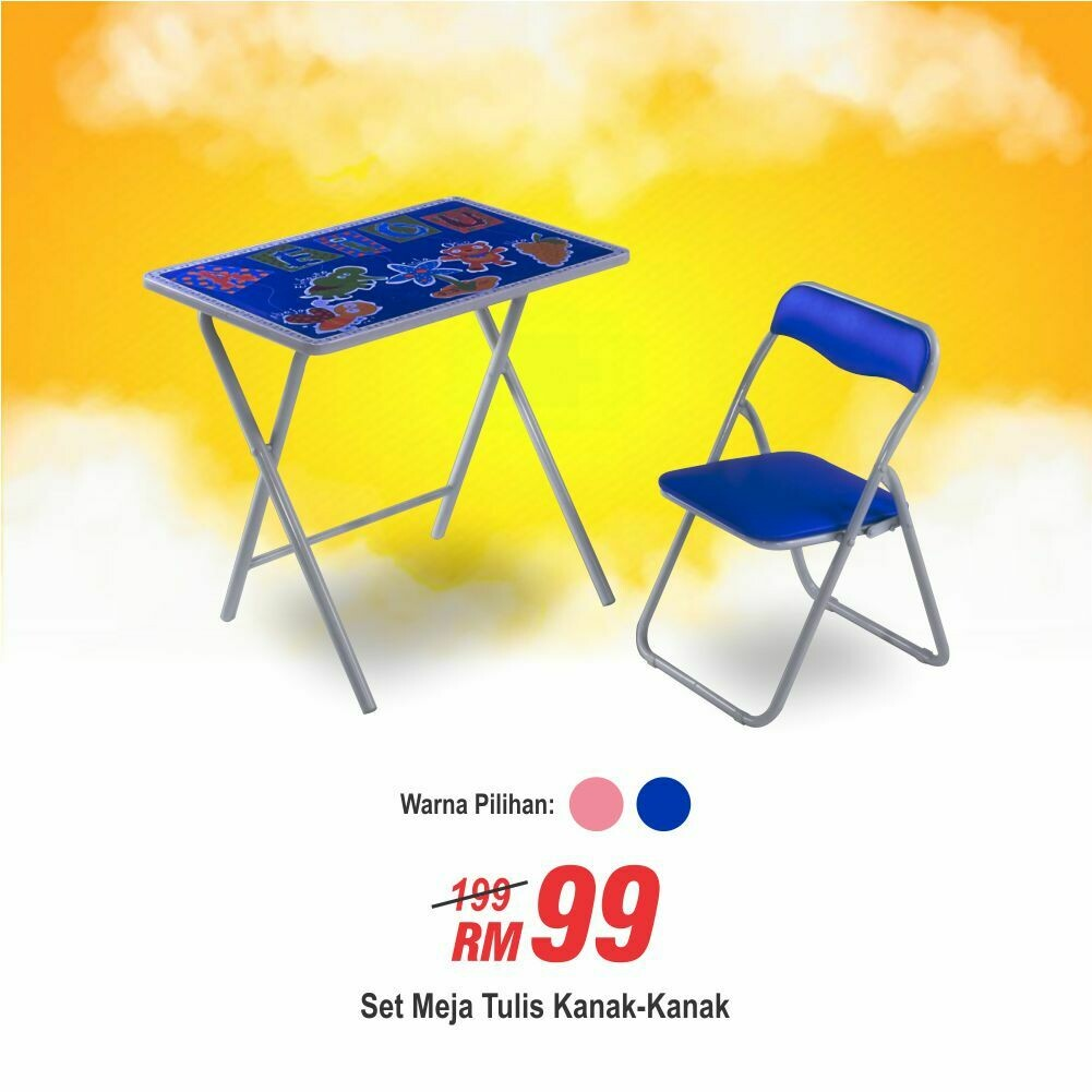 Children Foldable Study Table & Chair