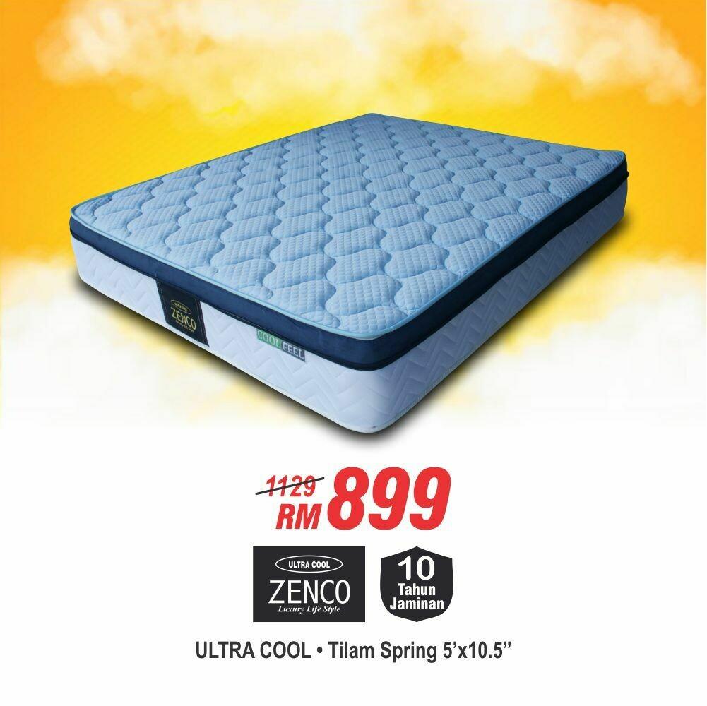 ZENCO Ultra Cool Spring Mattress (Queen Size) - 10.5 inch