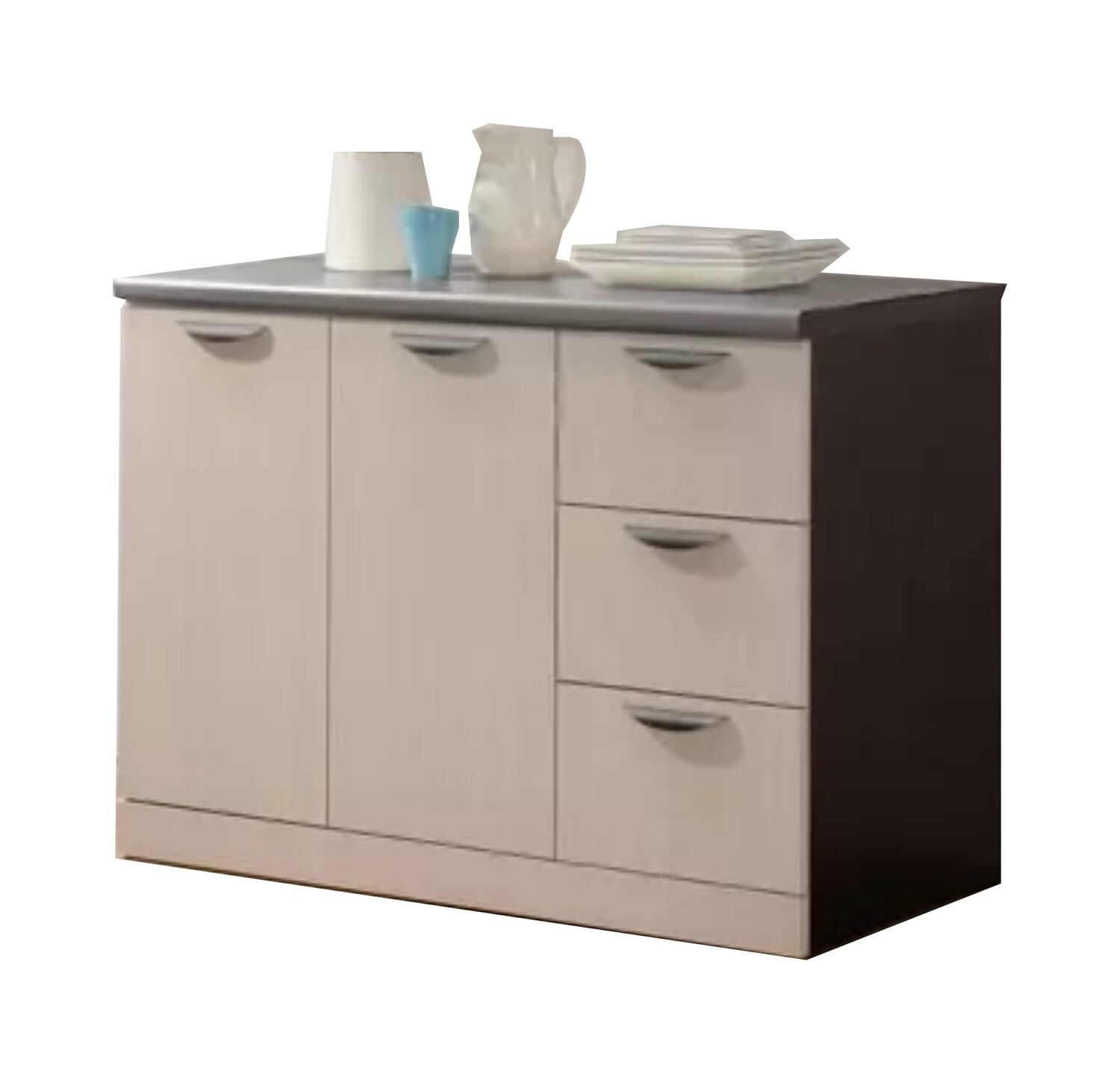 2 Doors and 3 Drawers Low Kitchen Cabinet