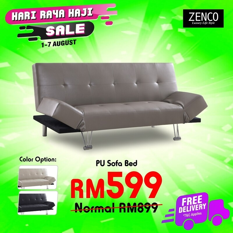 [FREE DELIVERY] Sofa Bed (Black/Grey/Pearl White)