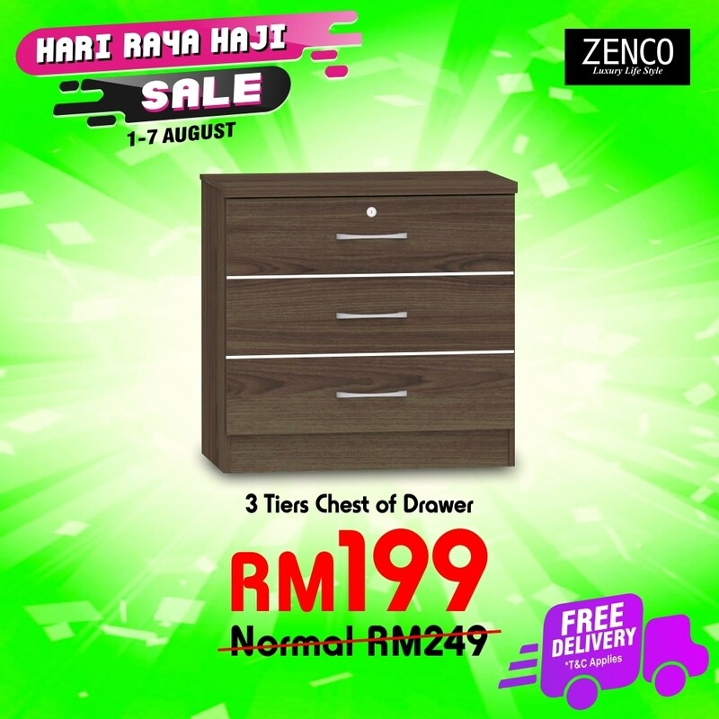[FREE DELIVERY] Chest of 3 drawers