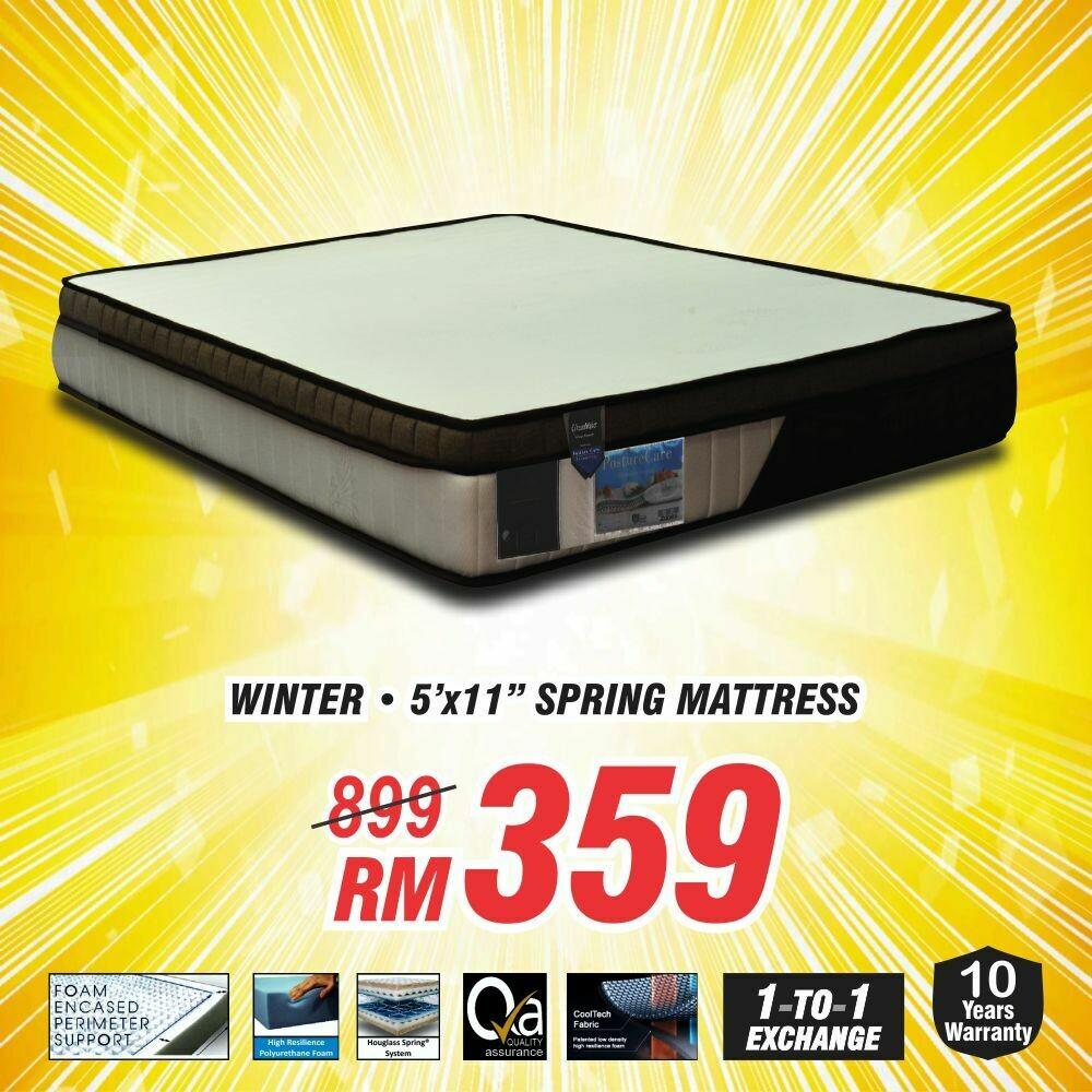 """Queen Size Spring Mattress (Winter mattress 5'x11"""")"""