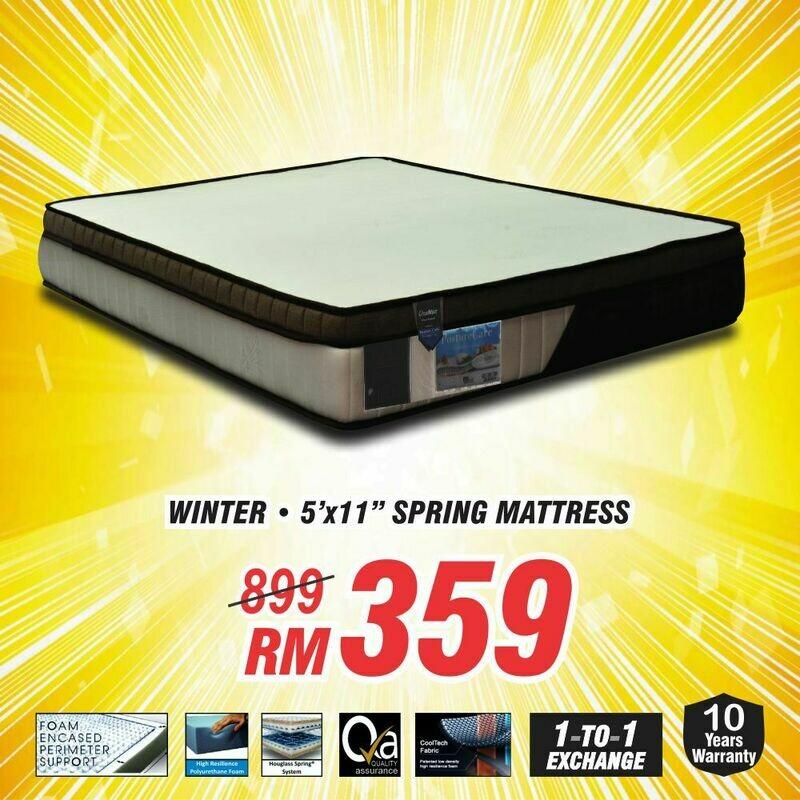 Queen Size Spring Mattress (Winter mattress 5'x11