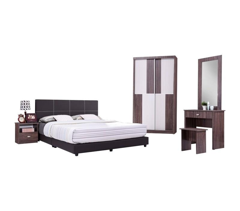 Bedroom Set with wardrobe and queen size divan