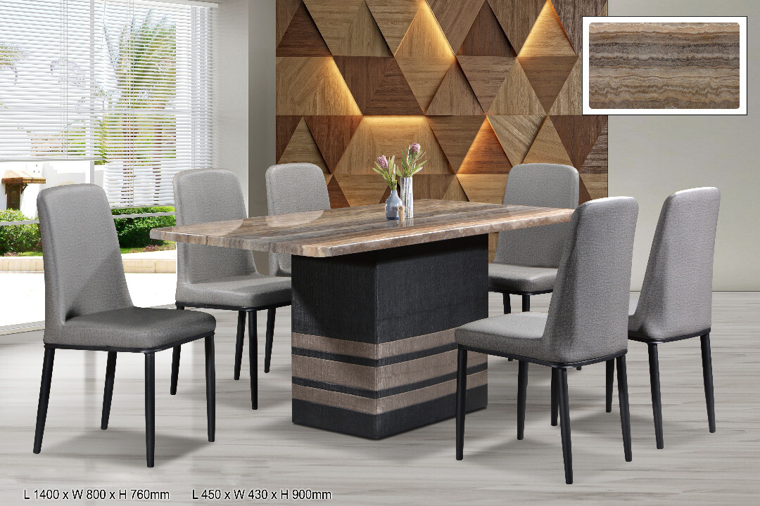 1+6 Marble Dining Set