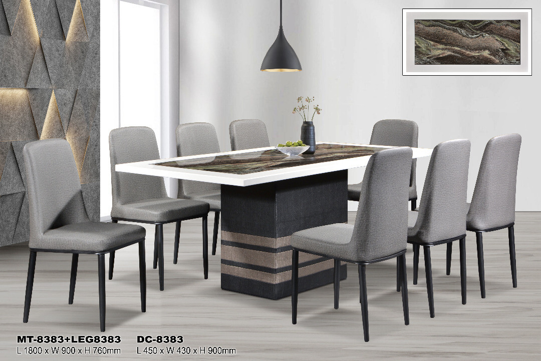 1+8 Marble Dining Set