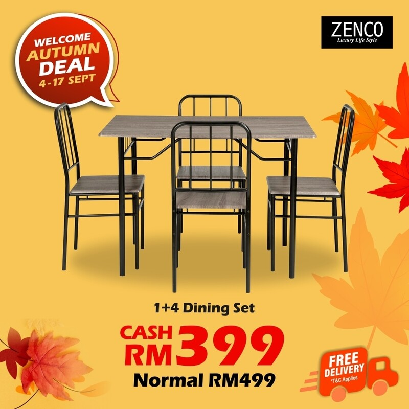 [FREE DELIVERY] 1+4 Dining Set