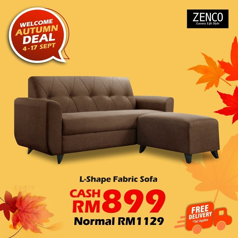 [FREE DELIVERY] sofa with Stool
