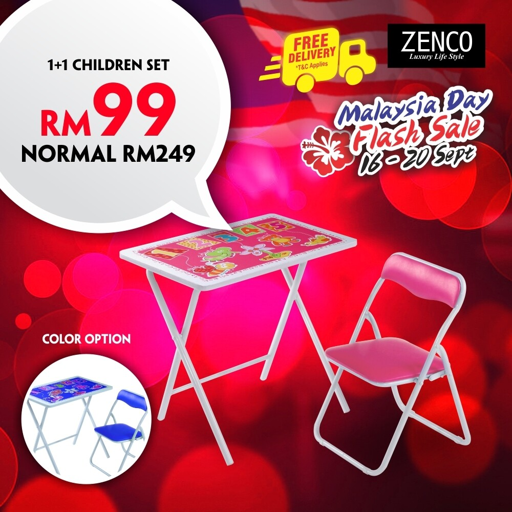 [FREE DELIVERY] Children Foldable Study Table & Chair