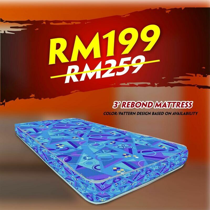 [FREE DELIVERY] 3ft x4inch Single Rebond mattress