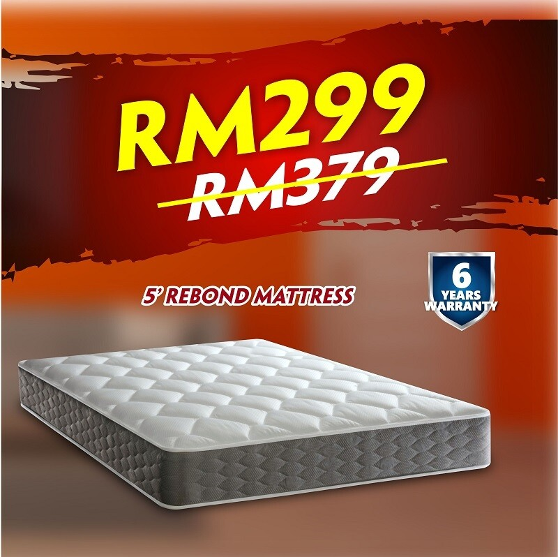 [FREE DELIVERY] 5ft x 6inch Rebond Mattress - Queen