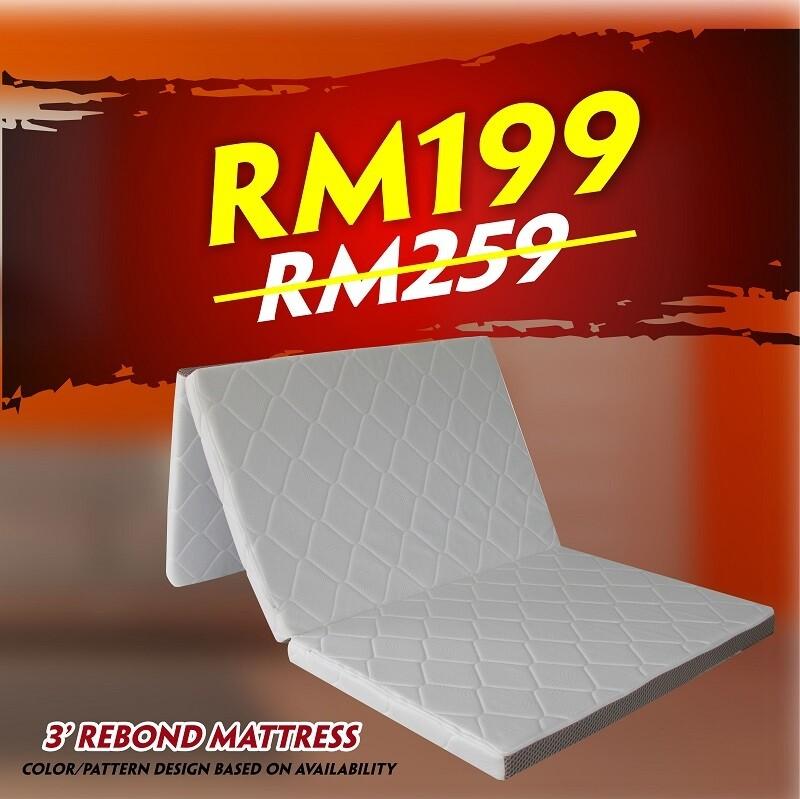 [FREE DELIVERY] 2inch Foldable Rebond Mattress - Single size