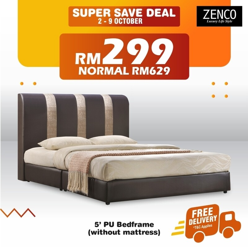[FREE DELIVERY] PVC Divan Bed - Queen Size