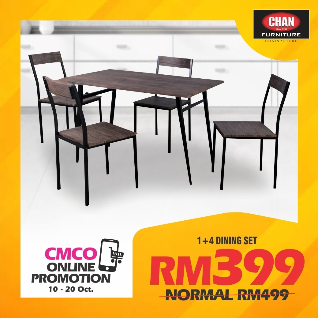 [CMCO ONLINE PROMO] 1+4 Dining Set