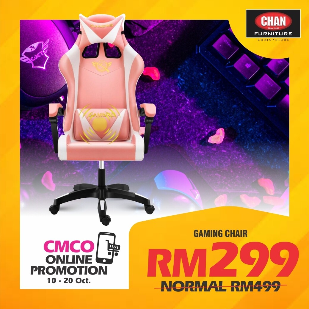 [PRE-ORDER - CMCO ONLINE PROMO] Gaming Chair - Pink