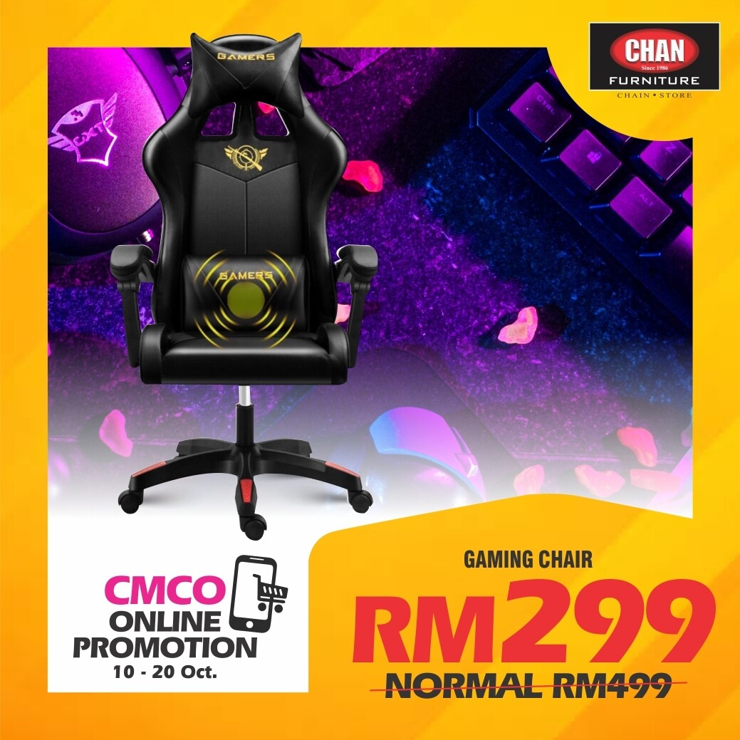 [PRE-ORDER CMCO ONLINE PROMO] Gaming Chair - Black