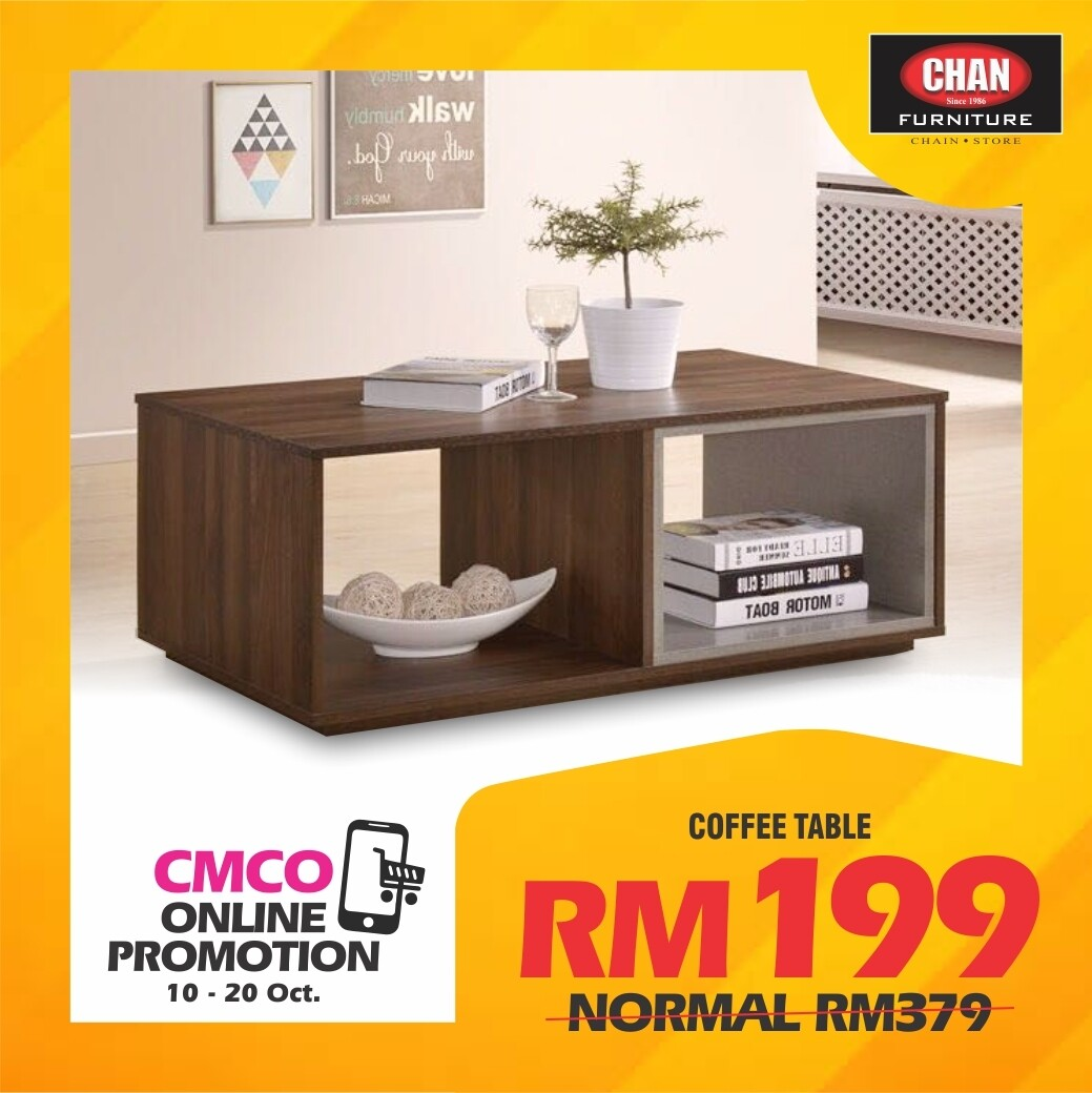 [CMCO ONLINE PROMO] Coffee Table with Storage