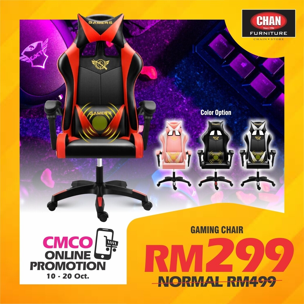 [PRE-ORDER - CMCO ONLINE PROMO] Gaming Chair - Red