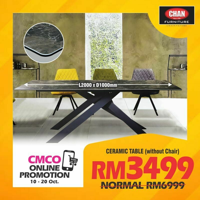 [CMCO ONLINE PROMO] Ceramic Dining Table (without chair)