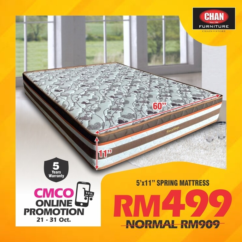 [CMCO ONLINE PROMO] 5ft x 11inch  Spring Mattress