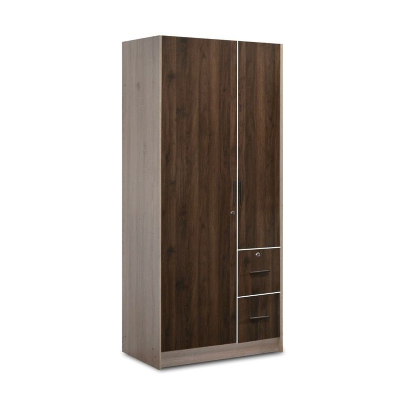 2 Doors Wardrobe with 2 Drawers