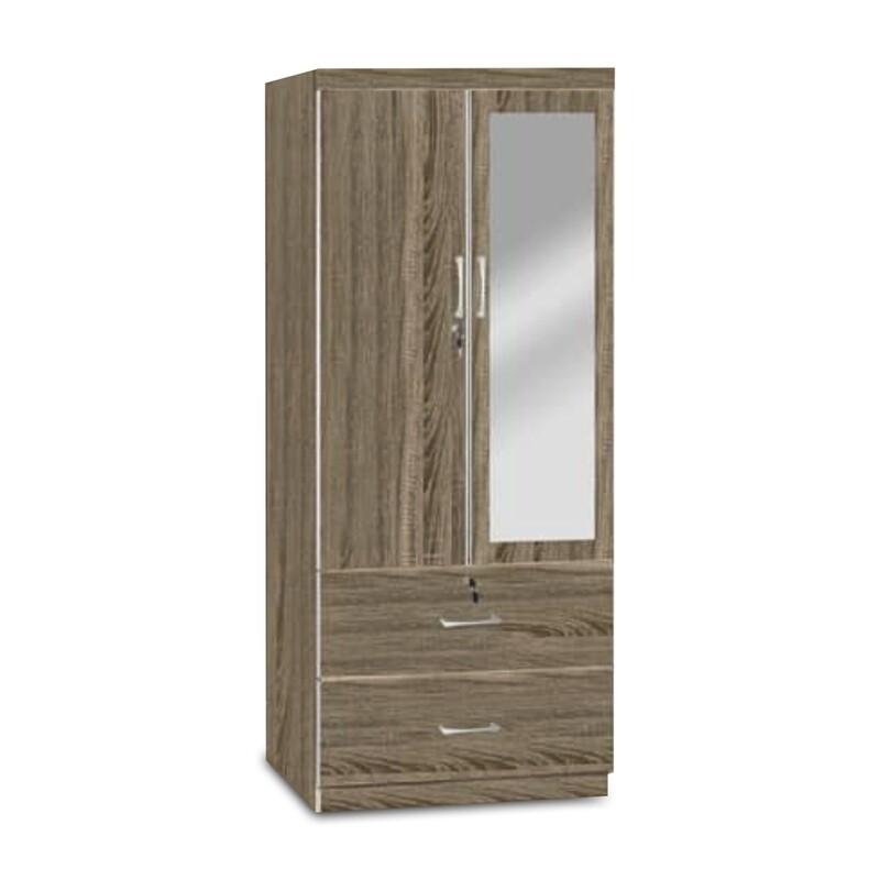 2 Doors Wardrobe with Mirror