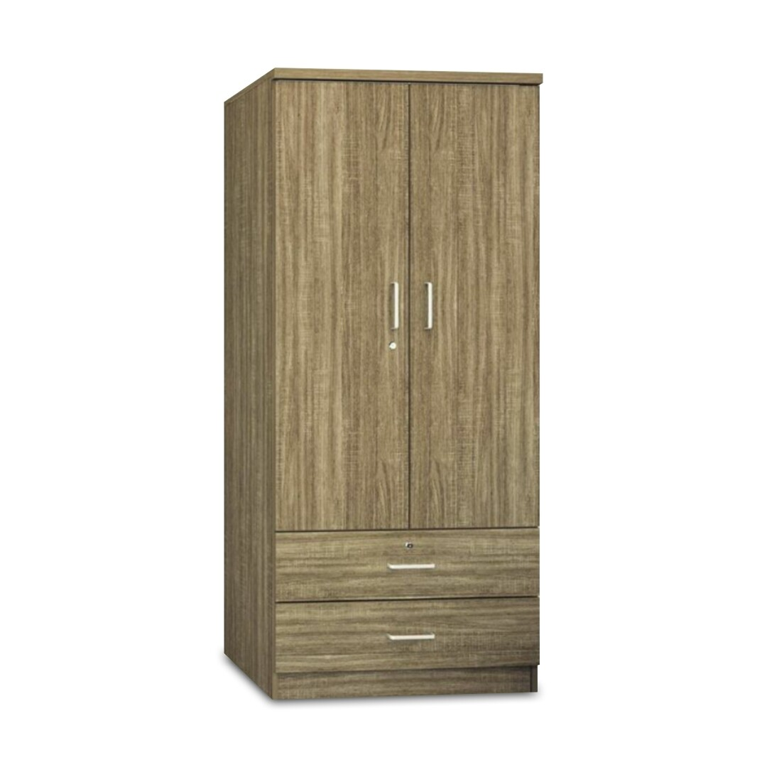 2 Doors Wardrobe with Drawers