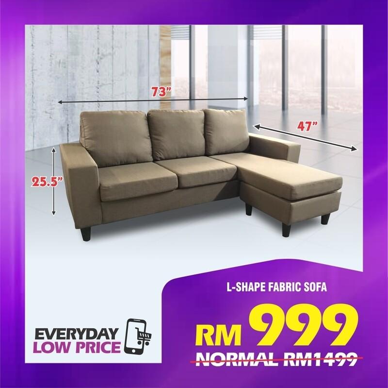 3 Seater L-shape Sofa