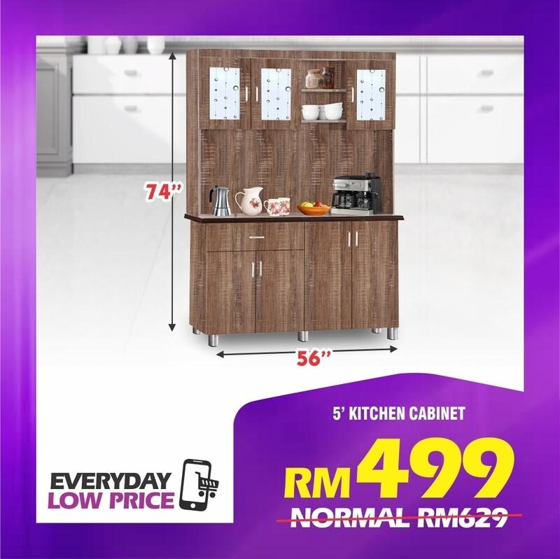 5' High Kitchen Cabinet