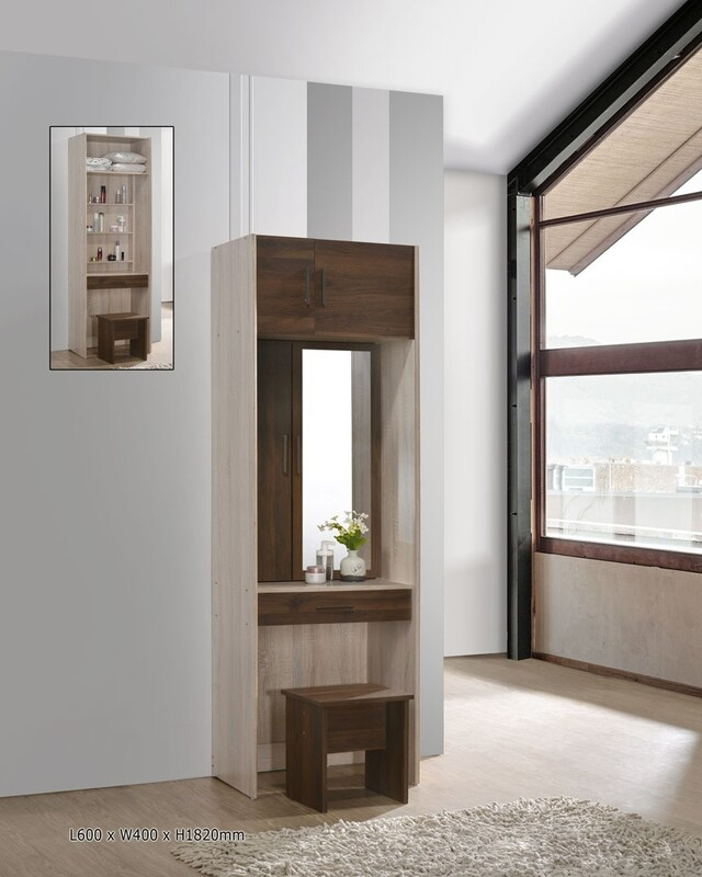 3 Doors and 1 Drawer Dressing Table